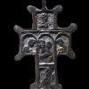Cast bronze cross with scenes