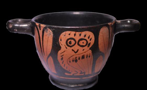 Greek Owl Cup